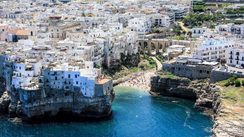Italy Apulia Bari Cala Porto Lama Monachile Tripinview